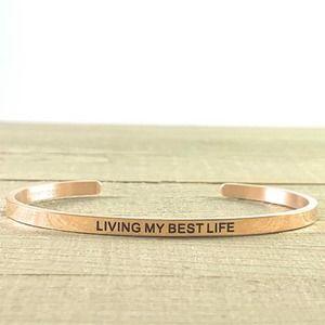 NEW Living My Best Life Rose Gold Bracelet